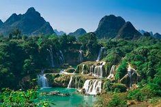 Cataratas Ban Gioc- Detian. Frontera de China y Vietnan