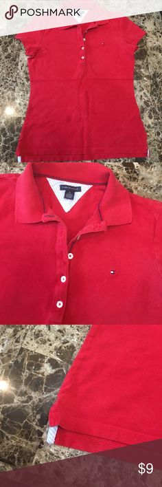 GIFT w Tommy polo⭕️ Take FREE shirt Tommy Hilfiger polo shirt. Size medium! From Macys. Good used condition! 5 buttons. Size medium---- I will give you the Aeropostale red polo for free with purchase! Tommy Hilfiger Tops Button Down Shirts