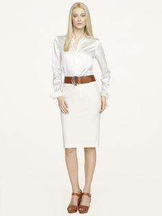 Wool-Cashmere Pencil Skirt - Short Skirts   Skirts - RalphLauren.com