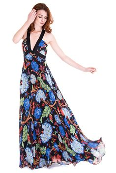 Designer Clothes, Shoes & Bags for Women Alice Olivia, Celine, Special Occasion, Dress Ootd, Chiffon, Woman Style, Elegant Woman, Long Dresses, Floral