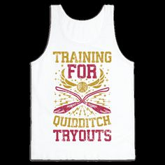 When you're at the gym smashing your workout, the last thing you need is people asking what you're training for, so let everyone know while you're lifting or doing your cardio that you're here to get a sweet place on the Quidditch team with this Quidditch training shirt! Physical fitness and magical prowess go hand in hand for an athlete in the greatest sport in the wizarding world.
