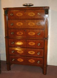 French 1st Empire Chest Of Drawers,commode - Antiques Atlas