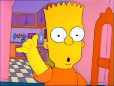 Bart scaring Lisa with his fake karate move (similar to the Vulcan nerve pinch)