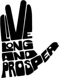 Vinyl Decal Sticker - Live Long and Prosper Star Trek decal for Windows, Cars, Laptops, Macbook, Yeti, Coolers, Mugs etc
