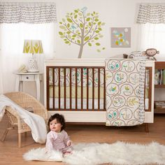 Gender neutral nursery design with whimsical and modern accents #nursery