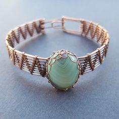 Wire Wrapped Bracelets for Women Oxidized Copper Bracelet