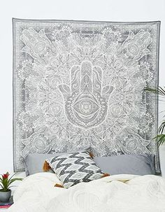 Tapestry Hamsa Hand Throw Indian Hippie Tapestry Wall Hanging, Urban Sketched Hand Dorm Tapestry, Tapestry Bedroom, Mandala Tapestry, Tapestry Wall Hanging, Tapestries, Psychedelic Tapestry, Mandala Blanket, Urban Outfitters, Bohemian Bedspread
