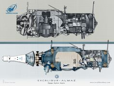 Space Tourism Moon Ship Revealed - The Isle of Man company Excalibur Almaz unveiled its planned designs for a space tourist getaway to the moon using spaceship designs developed by the former Soviet Union Space Tourism, Space Travel, Spaceship Design, Hubble Space Telescope, Deck Plans, Earth From Space, Pictures Of The Week, Starcraft, Tecno