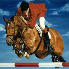 Equine Art / Hunter Jumper Horse Portrait in Oil - Portraits Artist Rick Timmons