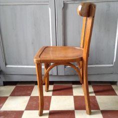 """Chaise """"Cannée"""" vintage années 50"""