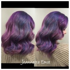 #Kenra Professional Technical Educator @jernst_kenra did this lovely color for a class. She prepped by double processing with #KenraColor No Ammonia Lightener + 20 vol., then toned with SV rapid toner.  Foundation: 8SM + Blue Booster + 10 vol. diffused into 1oz 10SM + 1oz 9VM + 10 vol. diffused into 8VM + Violet Booster + 10 vol.  Anchor: Same as foundation.  Accent 1: #KenraColor Creative Blue Accent 2: Creative Violet with a ribbon of Pink