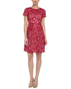 Spotted this Adrianna Papell Flare Red Lace Dress on Rue La La. Shop (quickly!).