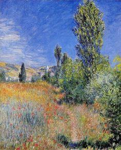 Claude Monet, Paysage dans l'Île Saint-Martin (Landscape on the Island of Saint-Martin), 1881. Oil on canvas, 72,1 x 58,7 cm. Private collection