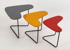 Boomerang nesting tables, ca. 1950's, Willy Van der Meeren Furniture
