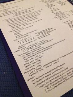 A crib sheet my friend made for an exam. - Imgur