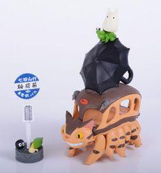 Tonari no Totoro - Nekobus - Makkuro-Kurosuke - Small Totoro - NoseChara 51 (Ensky)