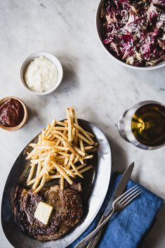 Skillet Seared Steak Frites / The Modern Proper