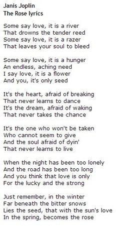 janis joplin Janis Joplin – The #Rose #Lyrics - http://sound.#saar.city/?p=29597