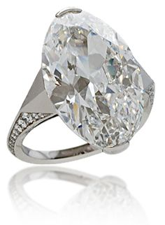 Navette-Cut Diamond Ring from the Stephen Russell Collection.  Photo c/o Stephen Russell