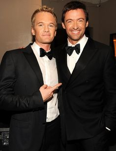 Neil Patrick Harris and Hugh Jackman, both extremely handsome men!