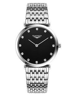GUANQIN schlanken Quarzmänner Geschäfts diomand Zifferblatt Uhr 100m wasserdicht Retro-Mode-Uhren aus Edelstahl - http://uhr.haus/weiq/guanqin-schlanken-quarzmaenner-geschaefts-uhr