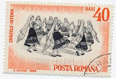1965 Romanian Stamp - Folk Dances by alexjacque, via Flickr