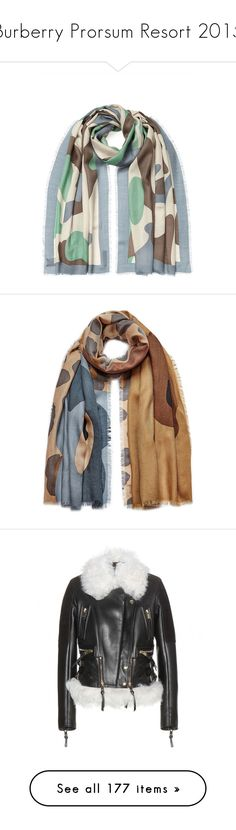 """""""Burberry Prorsum Resort 2015"""" by duchessq ❤ liked on Polyvore featuring accessories, scarves, multicolor, fringe scarves, cashmere shawl, burberry, multi colored scarves, burberry shawl, grey and colorful shawl"""