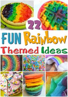 Need a bit of color to your day? Here are our favorite rainbow recipes and crafts to be a colorful addition to your next party or even just a Sunday.
