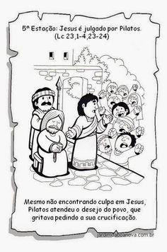 Jardim da Boa Nova: Via Sacra Comics, Jesus Cristo, How To Make, History Of Easter, Sunday School Kids, Kids Bible Activities, Educational Crafts, Catechism, Sunday School