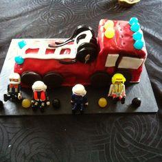Gateau d'anniversaire Camion de pompier - Confidences de maman