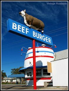 Beef Burger - Amarillo, Texas by Vintage Roadside, via Flickr.  I remember walking by this place when my sister and I would walk to the convenience store for dr pepper and pickles!!
