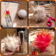 Sooo I'm trying to make a fireball for my Annie cosplay. Used some fake fur, a styrofoam ball, hairspray and sharpies. What do y'all think? Mario Costume, Wizard Costume, Fake Fire, Fire N Ice, Styrofoam Ball, Mario Party, Pokemon Cosplay, Wizard Of Oz, Happy Halloween