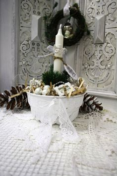 Vintage weihnachtsdeko zauberhafter shabby christbaumst nder antik glocke ein designerst ck - Vintage weihnachtsdeko ...
