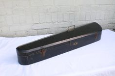 Antique Violin Case Black Wood Carrying Case Green Lining Instrument Case by VerifiedVintageNL on Etsy