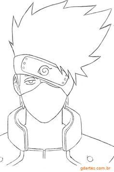 Kakashi Drawing, Naruto Sketch Drawing, Goku Drawing, Art Drawings Sketches Simple, Anime Sketch, Easy Drawings, Naruto Drawings Easy, Naruto Painting, Anime Lineart