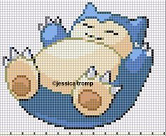 cross stitch pattern Snorlax Pokemon