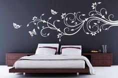 Luxurioeses-WANDTATTOO-Blumen-Ranke-90x39cm-W615-in-weiss-auch-fuers-Wohnzimmer