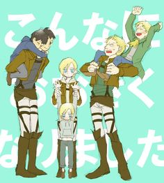 Bertholdt , Annie and Reiner
