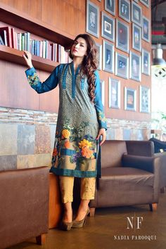 Eid is just two weeks away which means Nadia Farooqui's latest seasonal pret collection exhibition is just around the corner! The exhibition will be held at Nadia's flagship store on Pakistani Outfits, Indian Outfits, Modest Dresses, Casual Dresses, Dresses 2014, Winter Dresses, Ethnic Fashion, Asian Fashion, Mehndi