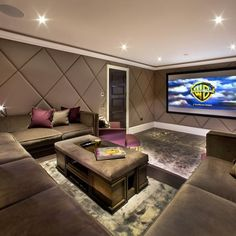 Top 70 Best Home Theater Seating Ideas - Movie Room Designs Home Theater Room Design, Home Cinema Room, Home Theater Decor, Best Home Theater, At Home Movie Theater, Home Theater Rooms, Home Theater Seating, Home Decor, Theater Seats