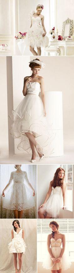28 Short and Chic Summer Wedding Dresses - Romantic