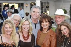 """Dallas"" 30th Anniversary  In This Photo: Sheree J. Wilson, Patrick Duffy, Larry Hagman, Linda Gray, Ken Kercheval, Audrey Landers, Mary Crosby"