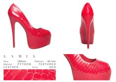 Did I hear sexy and fabulous? Yes, Lamia has it all! You won't be able to resist it. This gorgeous peep toe lady is something of the world, with her glossy red snake print. A classic high heel never looked that beautiful before!  ONLINE STORE: bymareshoes.com