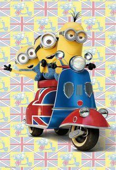 Minions - let's take a ride in the city amigos! Cute Minions Wallpaper, Minion Wallpaper Iphone, Disney Wallpaper, Cartoon Wallpaper, Minions Bob, Minion Jokes, Minions Despicable Me, Minions Quotes, Funny Minion