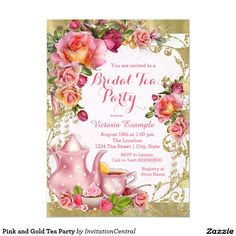 Pink and Gold Tea Party
