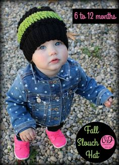 Oombawka Design | Fall Slouch Hat  6 to 12 months, free crochet-a-long pattern