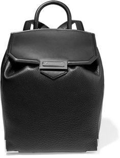 Alexander Wang - Prisma Skeletal Textured-leather Backpack - Black