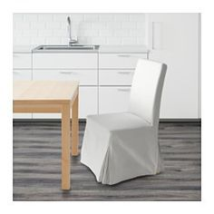 IKEA - HENRIKSDAL, Chair, Blekinge white, birch,  , , You sit comfortably thanks to the high back and seat with polyester wadding.Machine washable cover; easy to keep clean.The washable cover to HENRIKSDAL chair frame is easy to put on and take off.The chair legs are made of solid wood, which is a durable natural material.