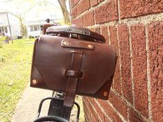 Custom Leather Bike Bag