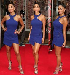 Nicole Scherzinger in David Koma dress